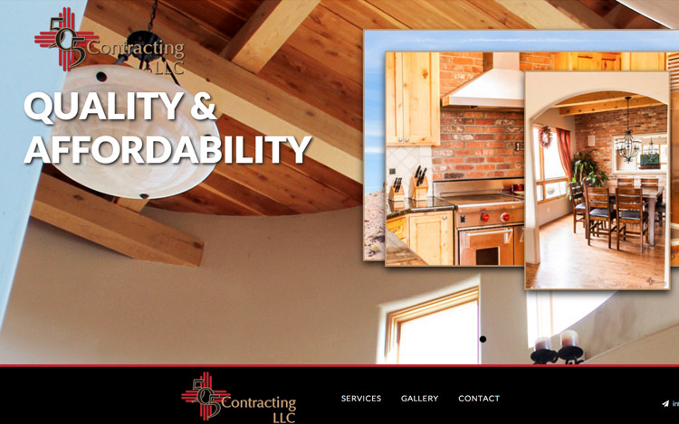 Albuquerque Web Design Client - 505 Contracting LLC