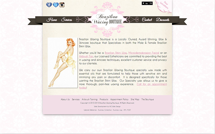Albuquerque Web Design Client - Brazilian Waxing Boutique