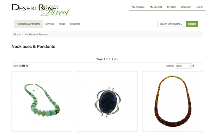 Albuquerque Web Design Client - Desert Rose Direct
