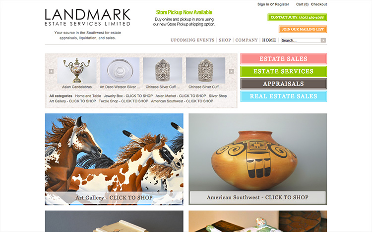 Albuquerque Web Design Client - Landmark Estate Services