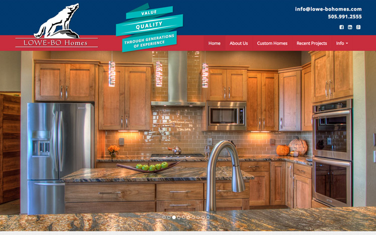 Albuquerque Web Design Client - Lowe-Bo Homes