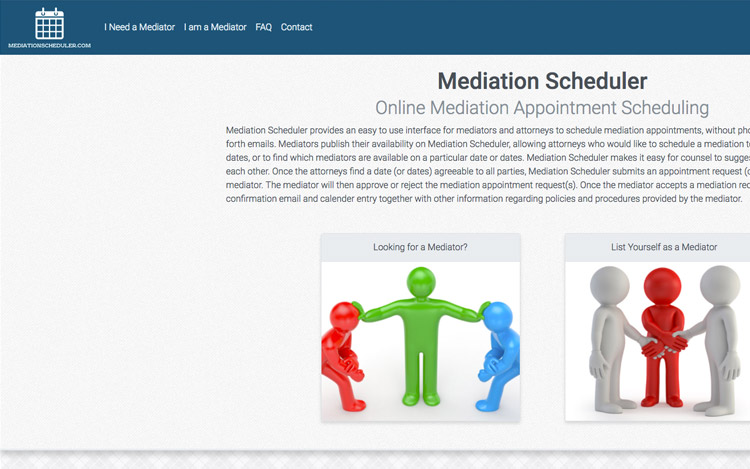 Albuquerque Web Design Client - Mediation Scheduler