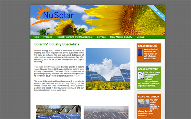 Albuquerque Web Design Client - NuSolar