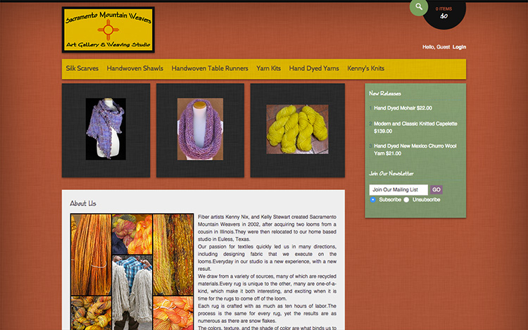 Albuquerque Web Design Client - Sacramento Mountain Weavers