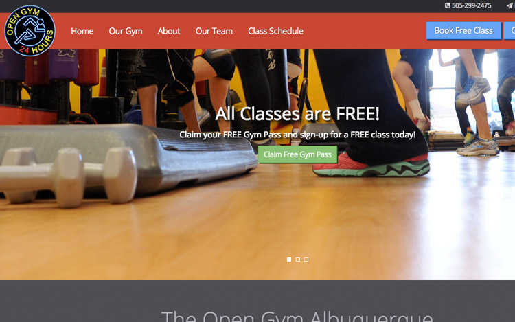 Albuquerque Web Design Client - The Open Gym